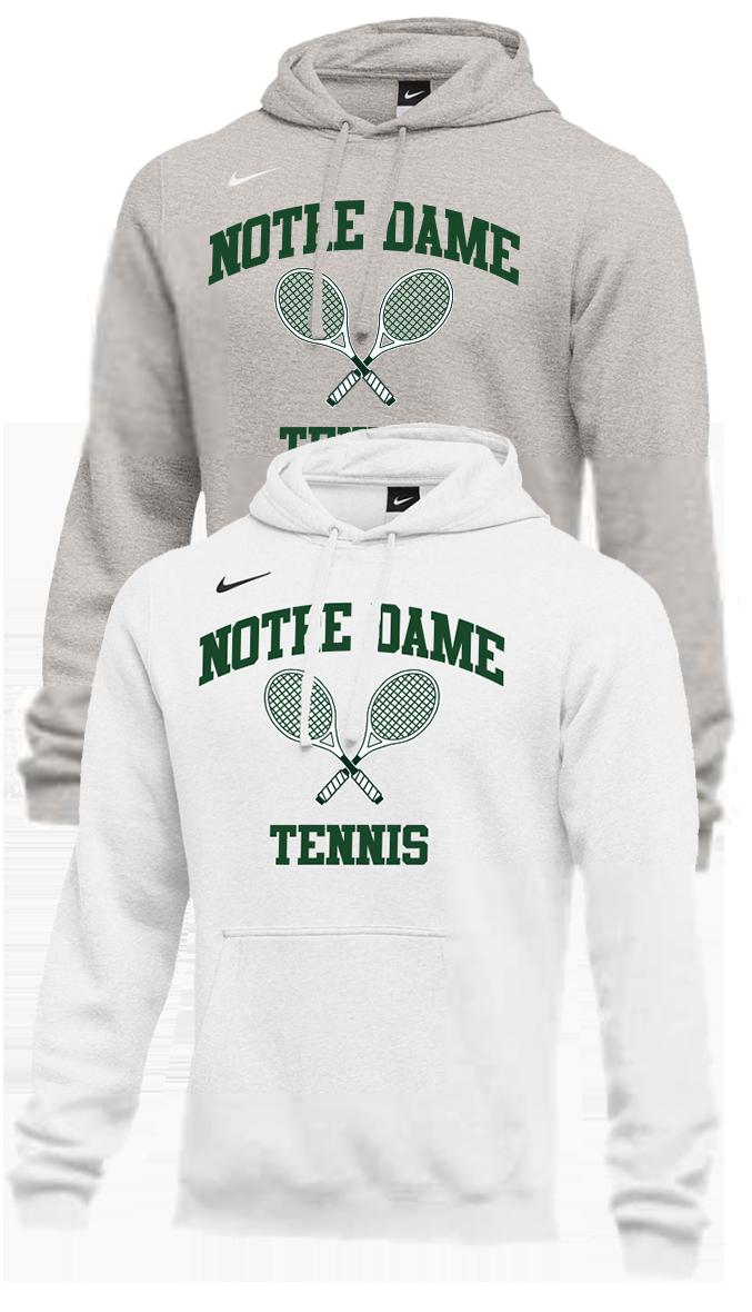 02a476bc5aa ND Tennis Nike Club Hoodie - Notre Dame Tennis - Anchors Aweigh ...