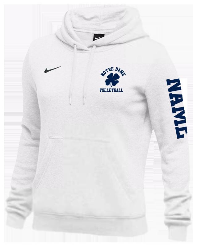 4e092201d 3. Notre Dame Volleyball Nike Team Club Fleece Hoodie - Women's ...