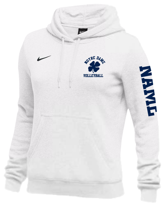 17a8c48aa266 3. Notre Dame Volleyball Nike Team Club Fleece Hoodie - Women s ...