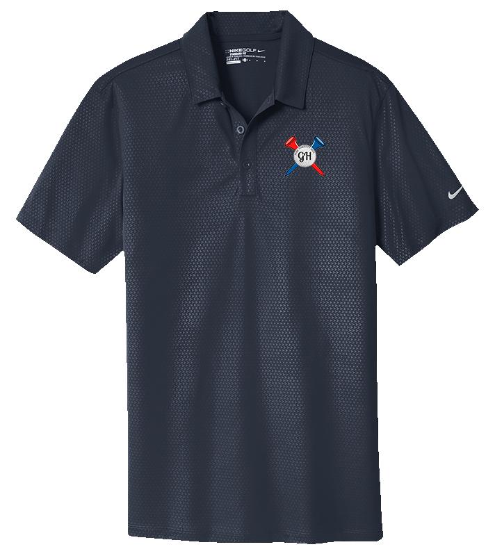 3d238716a330 GH Men s Nike Golf Shirt - Fore Garrett Hill Golf - Anchors Aweigh ...