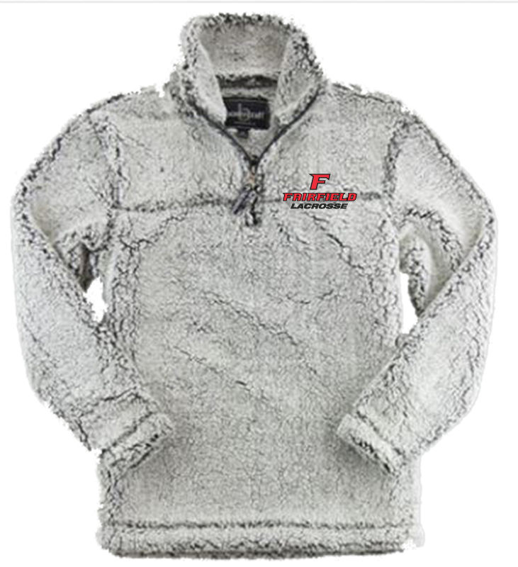 2c79dbef Fairfield Lacrosse Smoky Grey Sherpa Pullover - Fairfield University ...